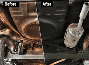Before and after rust protection